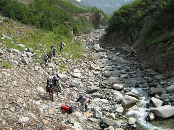 Перед обходом очередного водопада
