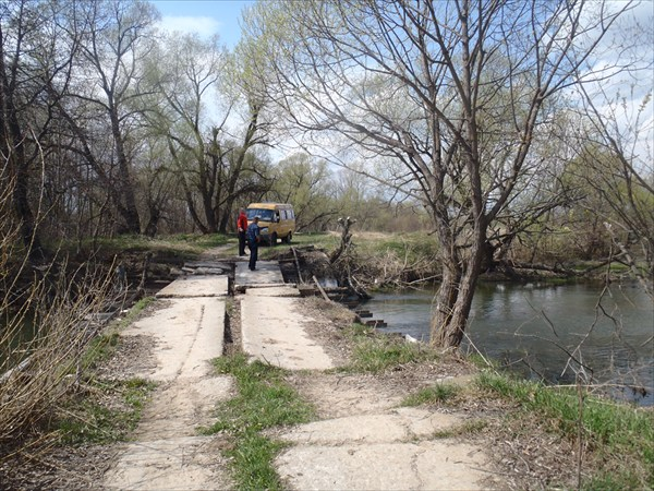 Мост через реку Серена в н.п. Староселье.
