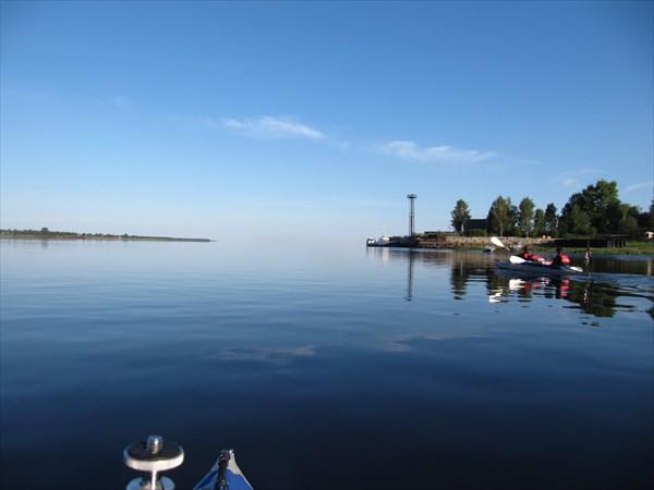 Устье реки Онега - впереди Белое море