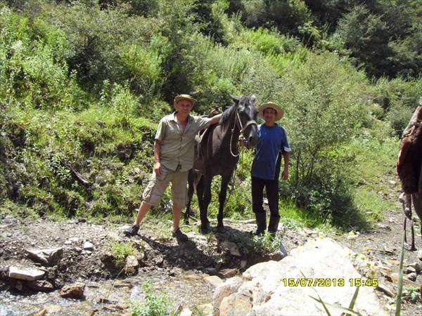 на фото: В горах Кок-Жангака, с. Уч-Малай.