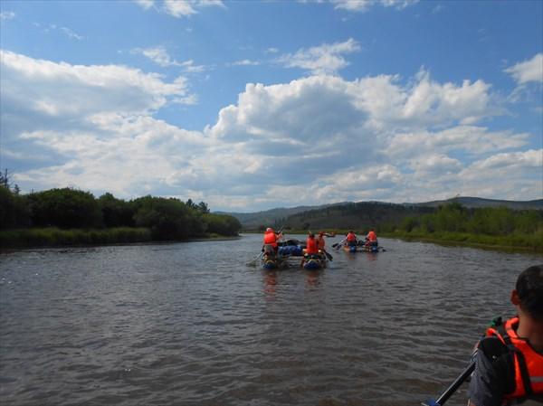 Река Хилок. Первые километры сплава.