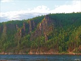 Скалы Олёкмы после притока Тас-Миеле