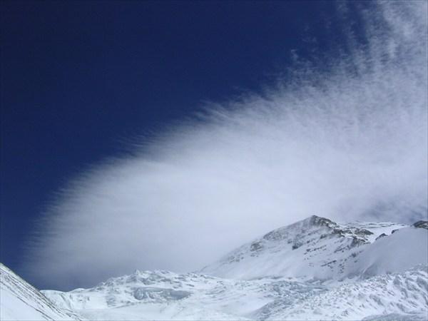 облака веером