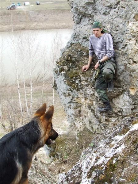 Собак-скалолаз