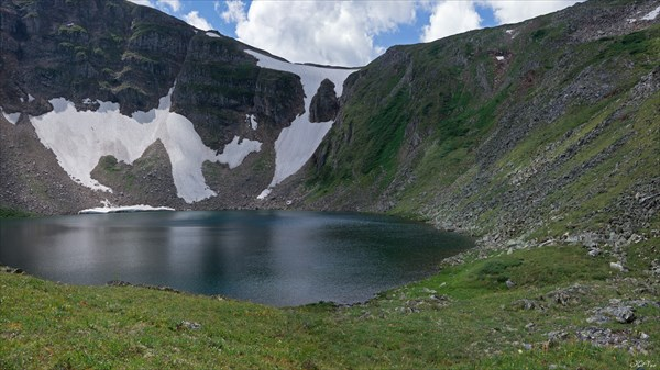 Перевал Гутарский (Озерный) от верхнего озера