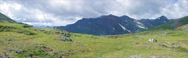 Вид с перевала в сторону Малой Кишты