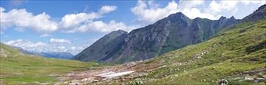 Вид с перевала в сторону Гутары