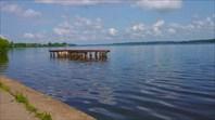 Волга, место купания-город Калязин