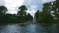 Улица, выходящая из под воды-город Калязин