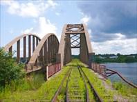 Ж/Д мост через Жабню-город Калязин