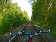 Езда по шпалам-город Калязин