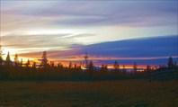 Закат у ыстаннахской избушки