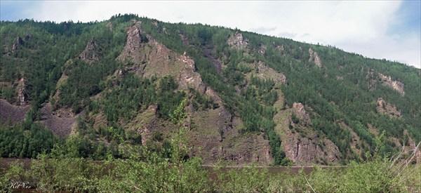 Берега Олёкмы перед порогом Сырылыр