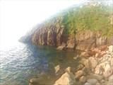 Вид острова от мыса Седло на восточную часть