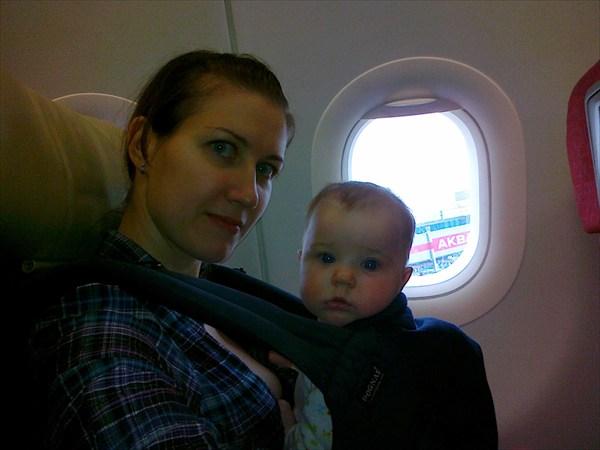 В самолете перед взлетом