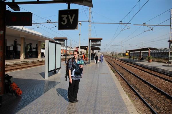 Ждем поезда на 3-ем пути
