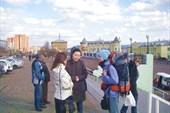 Александра Хаданова встречает нас на вокзале