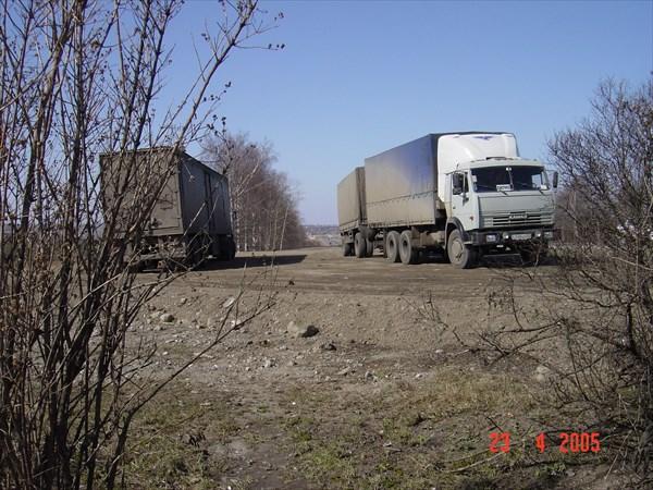 А - 114 Вологда-Н.Ладога, п.  Шексна, стоянка дальнобоев
