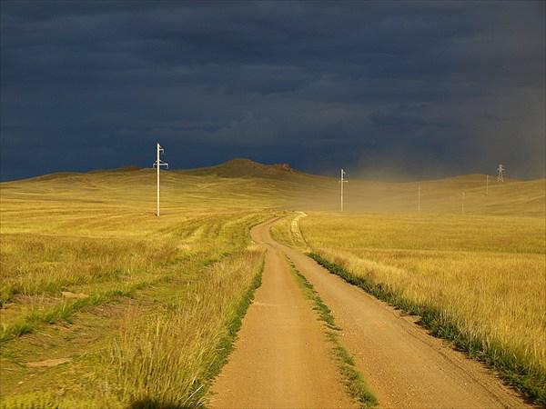 Дорога на оз. Хара-нур