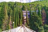 Дорога к пансионату в Гаграх