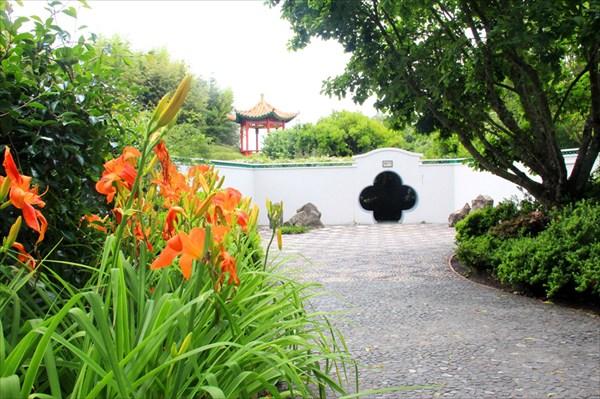 Китайский сад отличается большим многообразием растений