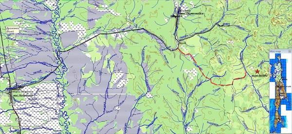 Схема дороги к горе Вайда