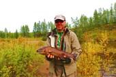 Игорь Якушев -самый крупный ленок