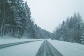 Дорога на правоборежную часть Усть-Илимска