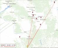 Карта связей на 430 МГц (70 см)