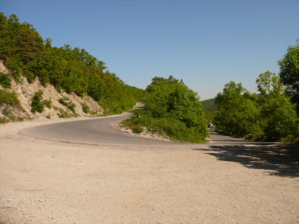 Серпантин - спуск к Абрау (перевал Абрау-Дюрсо)
