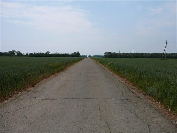 Дорога от Благовещенской к Бугазской косе