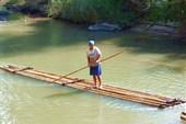 Бамбуковые плоты на реке