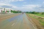 На въезде в Караганду.