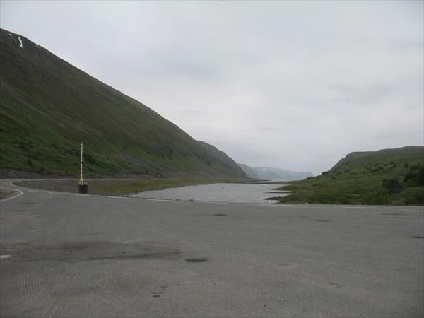 На перемычке. Вид на Eidsfjorden