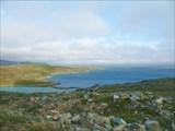 Вид на побережье с дороги на Гамвик