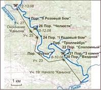 Песчаная река - карты и космо