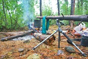 Два дня просидели в палатке из-за проливных дождей... Сушимся