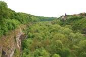 Скалистый каньон реки Смотрич в Каменце-Подольском