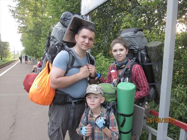 На станции, г.Ивантеевка М.О.. Начало путешествия.