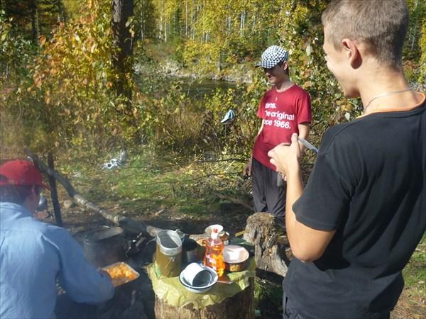 Хорош был суп да на свежем воздухе))