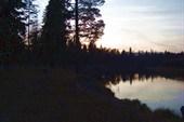 Закат на реке Лух, очень красиво