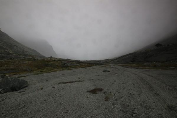 Вершина Умбозерского перевала в тумане