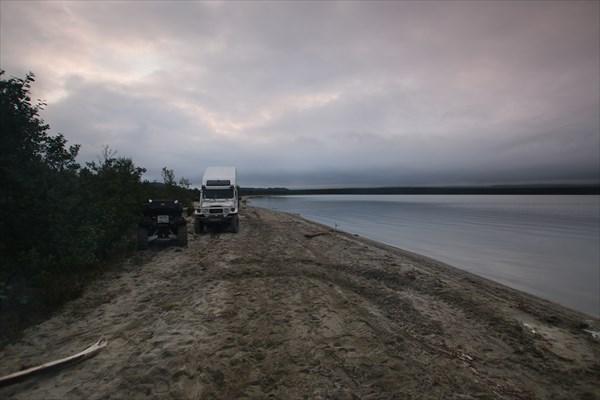 На берегу залива Умбозера (залив Тульилухт)
