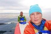 Экипаж `Редиски` (Женя и Оля) - холодное утро