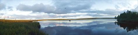 Панорама на озеро