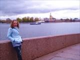 Вид на Петропавловскую крепость, Дворцовая набережная