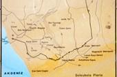карта Селевкии Пиэрии -  древнего города неподалеку от Антиохии