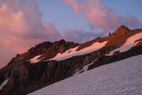 Летний закат на высоте более 3500 м