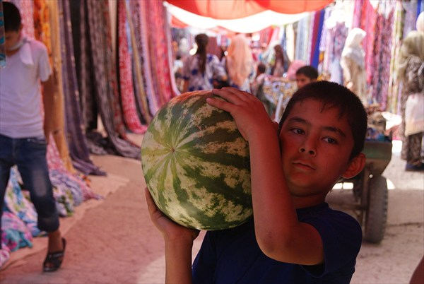 Мальчик Арбуз в Намангане