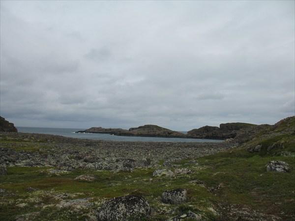 Поля камней на побережье